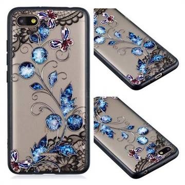 Butterfly Lace Diamond Flower Soft TPU Back Cover for Mi Xiaomi Redmi 6A