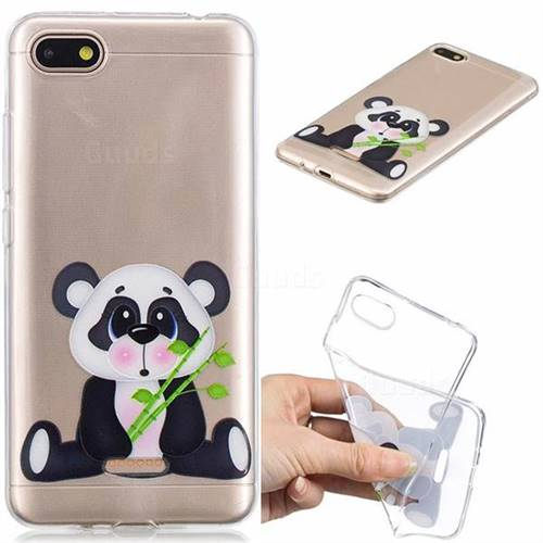 Bamboo Panda Clear Varnish Soft Phone Back Cover for Mi Xiaomi Redmi 6A