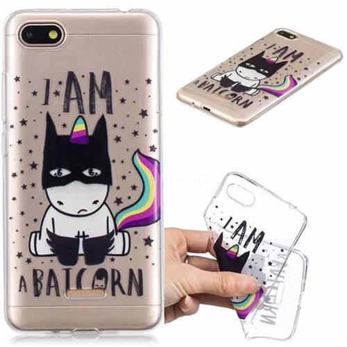 Batman Clear Varnish Soft Phone Back Cover for Mi Xiaomi Redmi 6A