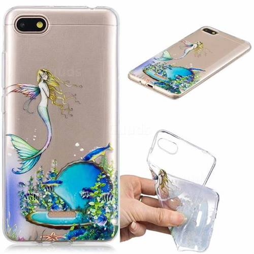 Mermaid Clear Varnish Soft Phone Back Cover for Mi Xiaomi Redmi 6A