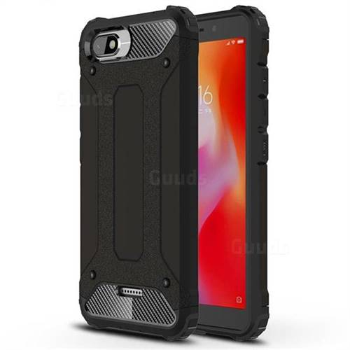 King Kong Armor Premium Shockproof Dual Layer Rugged Hard Cover for Mi Xiaomi Redmi 6A - Black Gold