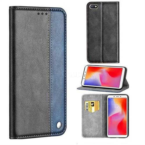 online store 0c2b9 92262 Classic Business Ultra Slim Magnetic Sucking Stitching Flip Cover for Mi  Xiaomi Redmi 6A - Blue - Leather Case - Guuds