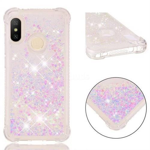 Dynamic Liquid Glitter Sand Quicksand Star TPU Case for Xiaomi Mi A2 Lite (Redmi 6 Pro) - Pink