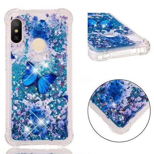 Flower Butterfly Dynamic Liquid Glitter Sand Quicksand Star TPU Case for Xiaomi Mi A2 Lite (Redmi 6 Pro)