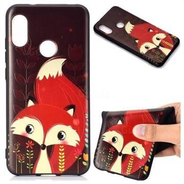 the best attitude ef232 9689e Red Fox 3D Embossed Relief Black TPU Back Cover for Xiaomi Mi A2 Lite  (Redmi 6 Pro)