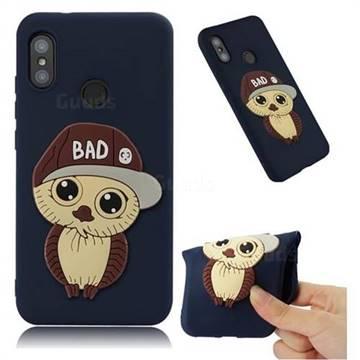 Bad Boy Owl Soft 3D Silicone Case for Xiaomi Mi A2 Lite (Redmi 6 Pro) - Navy