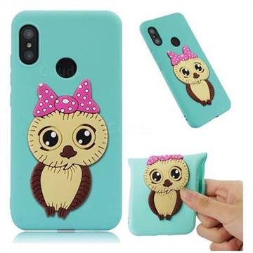 Bowknot Girl Owl Soft 3D Silicone Case for Xiaomi Mi A2 Lite (Redmi 6 Pro) - Sky Blue
