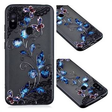 Butterfly Lace Diamond Flower Soft TPU Back Cover for Xiaomi Mi A2 Lite (Redmi 6 Pro)