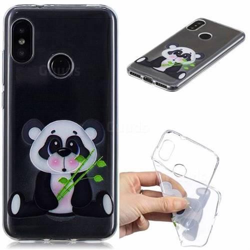 Bamboo Panda Clear Varnish Soft Phone Back Cover for Xiaomi Mi A2 Lite (Redmi 6 Pro)