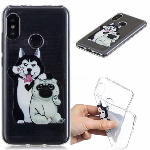 Selfie Dog Clear Varnish Soft Phone Back Cover for Xiaomi Mi A2 Lite (Redmi 6 Pro)