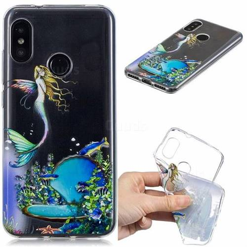 Mermaid Clear Varnish Soft Phone Back Cover for Xiaomi Mi A2 Lite (Redmi 6 Pro)