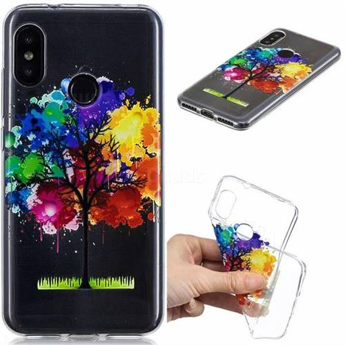 Oil Painting Tree Clear Varnish Soft Phone Back Cover for Xiaomi Mi A2 Lite (Redmi 6 Pro)
