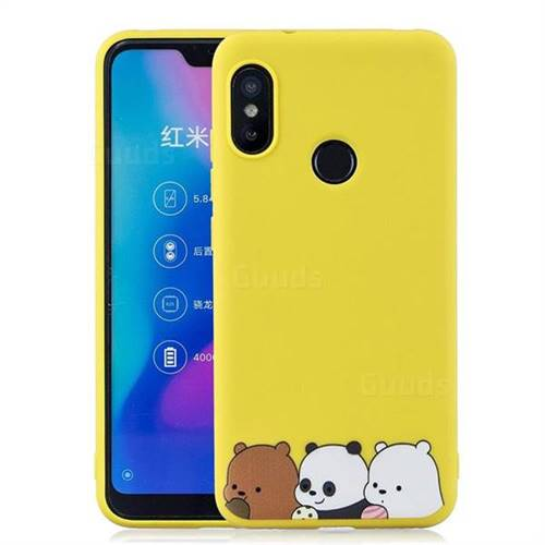 online store 8c494 b58e9 Yellow Bear Family Soft Kiss Candy Hand Strap Silicone Case for Xiaomi Mi  A2 Lite (Redmi 6 Pro)