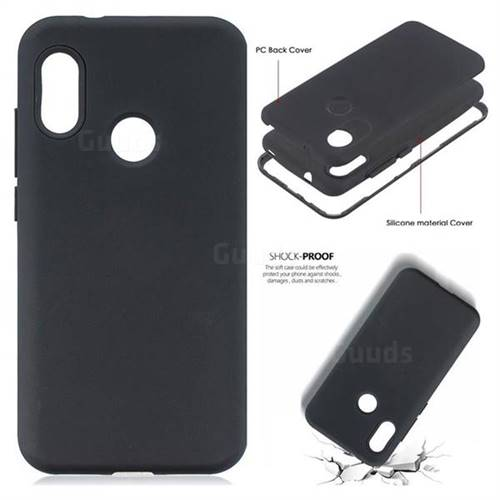 quality design 08c81 205af Matte PC + Silicone Shockproof Phone Back Cover Case for Xiaomi Mi A2 Lite  (Redmi 6 Pro) - Black