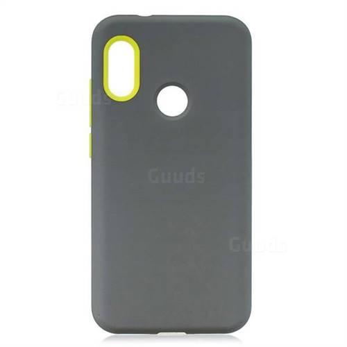 save off 500e5 7b007 Matte PC + Silicone Shockproof Phone Back Cover Case for Xiaomi Mi A2 Lite  (Redmi 6 Pro) - Gray