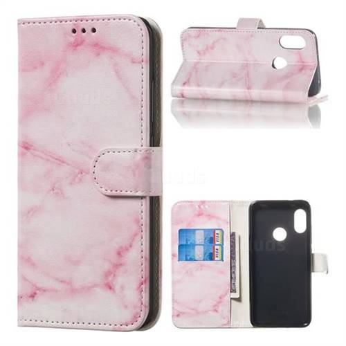 Pink Marble PU Leather Wallet Case for Xiaomi Mi A2 Lite (Redmi 6 Pro)