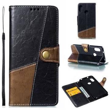 Retro Magnetic Stitching Wallet Flip Cover for Xiaomi Mi A2 Lite (Redmi 6 Pro) - Dark Gray
