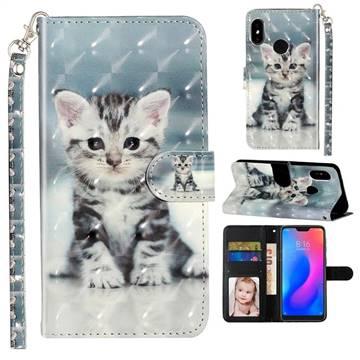 Kitten Cat 3D Leather Phone Holster Wallet Case for Xiaomi Mi A2 Lite (Redmi 6 Pro)