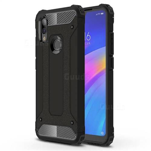 King Kong Armor Premium Shockproof Dual Layer Rugged Hard Cover for Mi Xiaomi Redmi 7 - Black Gold