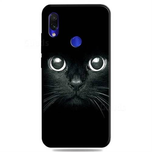 Bearded Feline 3D Embossed Relief Black TPU Cell Phone Back Cover for Mi Xiaomi Redmi 7