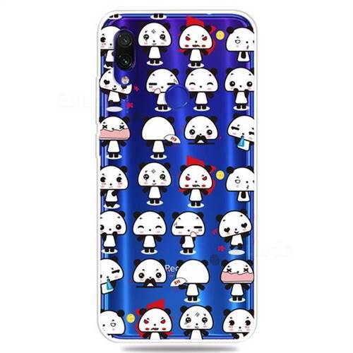 Mini Panda Clear Varnish Soft Phone Back Cover for Mi Xiaomi Redmi 7