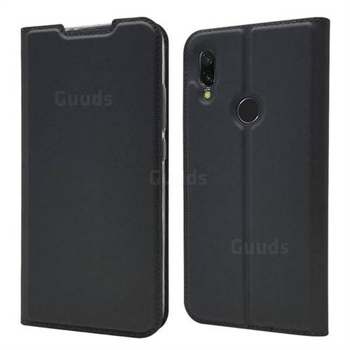 Ultra Slim Card Magnetic Automatic Suction Leather Wallet Case for Mi Xiaomi Redmi 7 - Star Grey