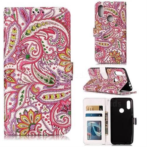 Pepper Flowers 3D Relief Oil PU Leather Wallet Case for Mi Xiaomi Redmi 7