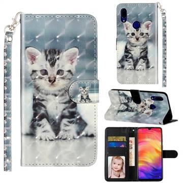 Kitten Cat 3D Leather Phone Holster Wallet Case for Mi Xiaomi Redmi 7