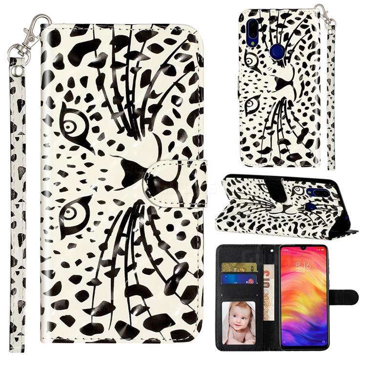 Leopard Panther 3D Leather Phone Holster Wallet Case for Mi Xiaomi Redmi 7