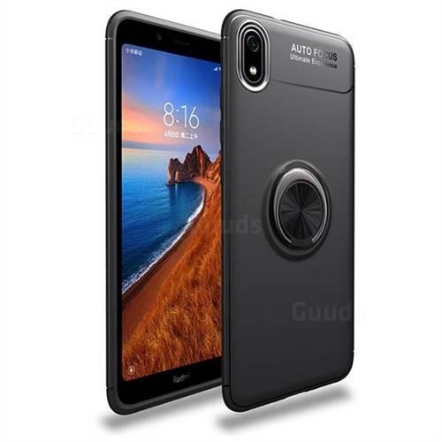 Auto Focus Invisible Ring Holder Soft Phone Case for Mi Xiaomi Redmi 7A - Black