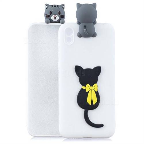 Little Black Cat Soft 3D Climbing Doll Soft Case for Mi Xiaomi Redmi 7A
