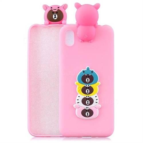 Expression Bear Soft 3D Climbing Doll Soft Case for Mi Xiaomi Redmi 7A