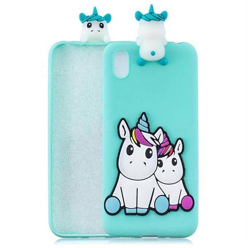 Couple Unicorn Soft 3D Climbing Doll Soft Case for Mi Xiaomi Redmi 7A