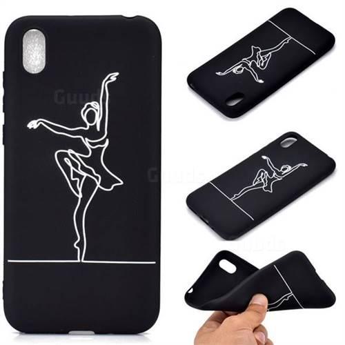 Dancer Chalk Drawing Matte Black TPU Phone Cover for Mi Xiaomi Redmi 7A