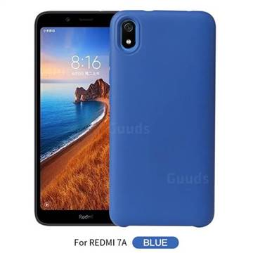 Howmak Slim Liquid Silicone Rubber Shockproof Phone Case Cover for Mi Xiaomi Redmi 7A - Sky Blue