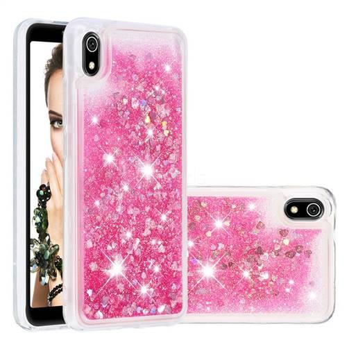 Dynamic Liquid Glitter Quicksand Sequins TPU Phone Case for Mi Xiaomi Redmi 7A - Rose
