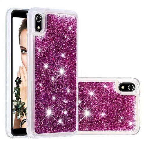 Dynamic Liquid Glitter Quicksand Sequins TPU Phone Case for Mi Xiaomi Redmi 7A - Purple