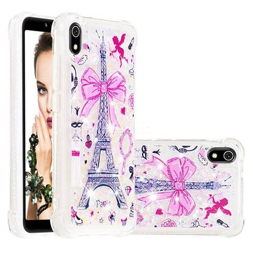 Mirror and Tower Dynamic Liquid Glitter Sand Quicksand Star TPU Case for Mi Xiaomi Redmi 7A