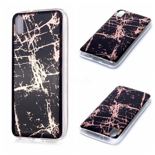 Black Galvanized Rose Gold Marble Phone Back Cover for Mi Xiaomi Redmi 7A