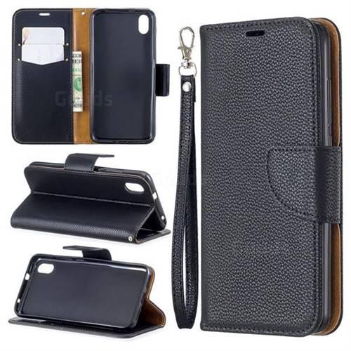 Classic Luxury Litchi Leather Phone Wallet Case for Mi Xiaomi Redmi 7A - Black