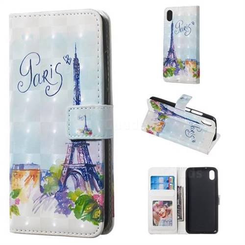 Paris Tower 3D Painted Leather Phone Wallet Case for Mi Xiaomi Redmi 7A