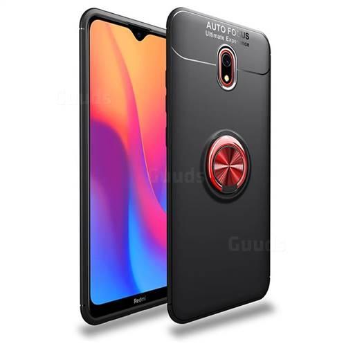 Auto Focus Invisible Ring Holder Soft Phone Case for Mi Xiaomi Redmi 8 - Black Red