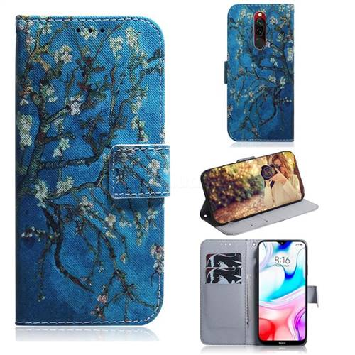 Apricot Tree PU Leather Wallet Case for Mi Xiaomi Redmi 8