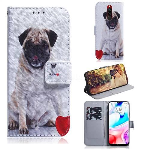 Pug Dog PU Leather Wallet Case for Mi Xiaomi Redmi 8