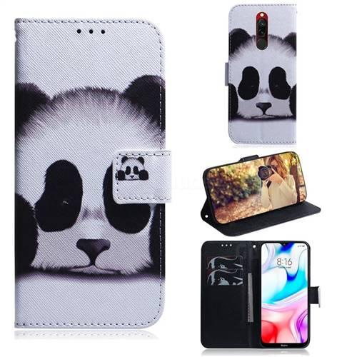 Sleeping Panda PU Leather Wallet Case for Mi Xiaomi Redmi 8