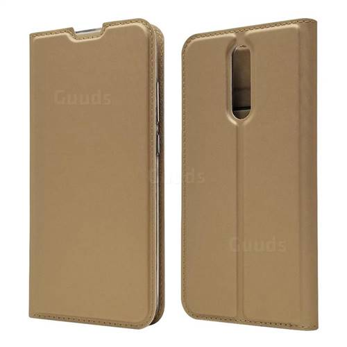 Ultra Slim Card Magnetic Automatic Suction Leather Wallet Case for Mi Xiaomi Redmi 8 - Champagne