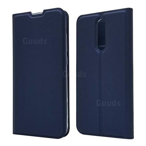 Ultra Slim Card Magnetic Automatic Suction Leather Wallet Case for Mi Xiaomi Redmi 8 - Royal Blue