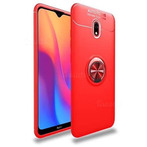 Auto Focus Invisible Ring Holder Soft Phone Case for Mi Xiaomi Redmi 8A - Red