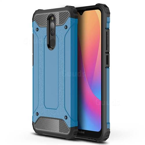 King Kong Armor Premium Shockproof Dual Layer Rugged Hard Cover for Mi Xiaomi Redmi 8A - Sky Blue