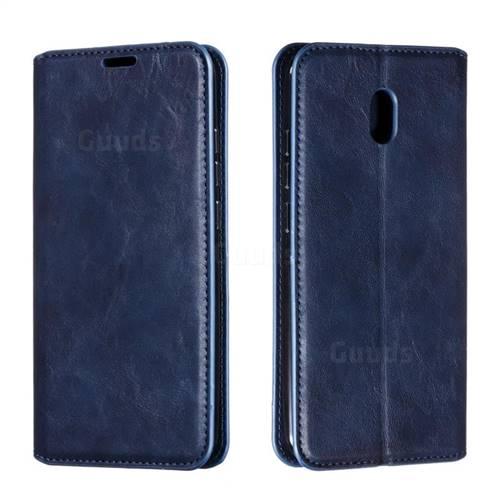 Retro Slim Magnetic Crazy Horse PU Leather Wallet Case for Mi Xiaomi Redmi 8A - Blue